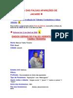 Ficha Das Falsas Aparições de Jacareí - Marcos Tadeu Teixeira