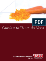 "Ebook Recetario Taisi IV Concurso de Recetas Taisi ""Pasión por la Fruta"" dedicado a la Zanahoria Confitada"
