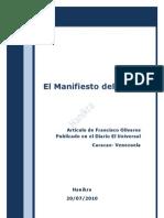 El Manifiesto Del PSUV