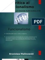 Crítica Al Funcionalismo