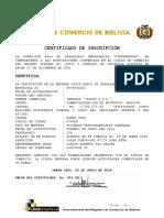Certificado Registro de Comercio Fundempresa