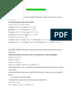 Mathematics Competition Practice