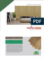 Partex Veneered Boards Catalogue L