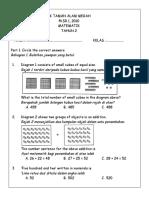 Kertas Soalan Matematik Tahun 2 Pksr1