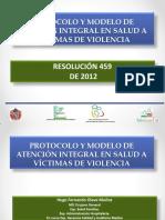 Resolucion 459 Protocolo Violencia Sexual