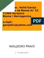 Http Dl.iu-travnik.com Uploads 350 8025 1. Uvodni Dio 1 -Pojam, Izvori, Načela i Pretpostavke Za Nasljeđivanje