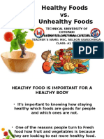 Healthy Foods vs. Unhealty Foods