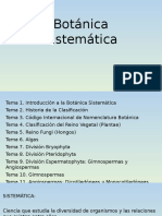 Tema 1. Introducción a La Botánica Sistemática