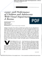 Motor skill performance of children and adolescents with visual impairments