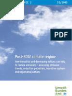 Post 2012 Climate Regime