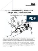 Power Take-Off (PTO) Driveshaft Design Safety Checklist