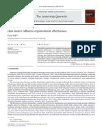 Yukl Organizational Effectiveness