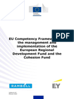 EU Competency Framework for the Management and Implementation of the European Regional Development Fund and the Cohesion Fund