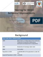 Ivo Guterres - SISCa Volunteers and Behaiour Change in Water Supply and Sanitation