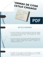 Formas de Citar Estilo Chicago