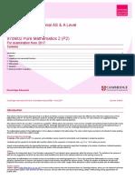 As-AL SOW 9709 02 PureMathematics2 P2