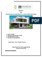 Project Report on Design and Construction of a Two Story Building(1)