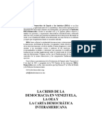 La Crisis de La Democracia en - Editorial Juridica Venezolana internacional