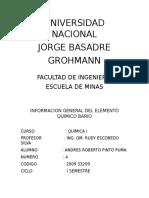 Informacion General Bario