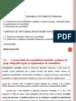 Particularități Ale Întocmirii, Publicării Și Auditării Situațiilor Financiare Consolidate În Franța
