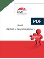 Sílabo Lengua Comunicación II Civil 2017-I