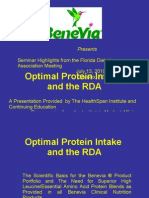 Optimal Protein Intake and the Recommended Daily Allowance (RDA)