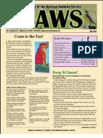 May 2008 CAWS Newsletter Madison Audubon Society