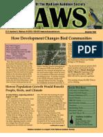 Nov 2008 CAWS Newsletter Madison Audubon Society