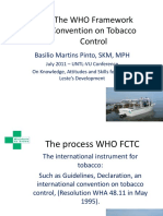 Basilio Martins Pinto - 2011 Presentation on Tobacco Control using the WHO Framework Convention