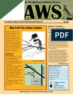 May 2009 CAWS Newsletter Madison Audubon Society