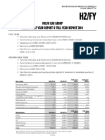 Volvo Car Group Financial Report Fy 2014
