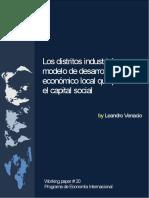 Los Distritos Industriales Que Promueven El Desarrollo Local