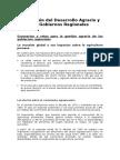 La Gestión Del Desarrollo Agrario y Los GobiernosRegionales