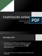 Estabilización Lumbar