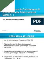 CURSO Régimen Gral. de Contrataciones de La APN. MODULO I