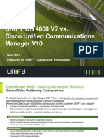 OpenScape 4000 V7 - Competitor Information - BC OpenScape 4000 V7 vs Cisco UCM