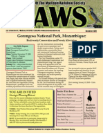 Nov 2009 CAWS Newsletter Madison Audubon Society