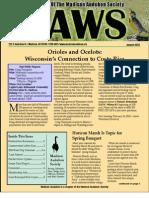 Jan 2010 CAWS Newsletter Madison Audubon Society