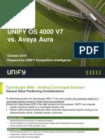 OpenScape 4000 V7 - Competitor Information - BC OS 4000 V7 vs Avaya Aura