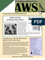 May 2010 CAWS Newsletter Madison Audubon Society