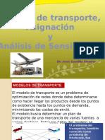 UNFV  MODELOS DE TRANSPORTE 2016 1 y asignacion y analis Sensible.pptx