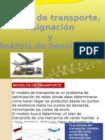 MODELOS de TRANSPORTE y Asignacion y Analis Sensible