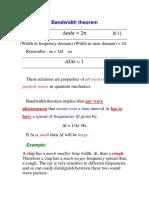Bandwidth Theorem