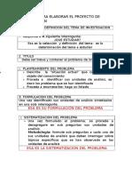 Criterios Para Elaborar La Tesis