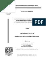 PROYECTO DE EFICIENCIA ENERGÉTICA EN EL SISTEMA DE ALUMBRADO EN EL CENTRO DE CIENCIAS APLICADAS Y DESARROLLO TECNOLÓGICO (CCADET
