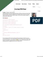 Raspberry Pi - Fun With POVRay Aug 2016