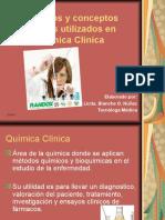 Terminos y Conceptos Basicos Utilizados en Quimica Clinica