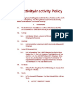 SAFR Activity/Inactivity Policy