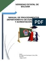 Manual de Procedimientos de La OEyAU