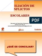 1.-Conciliación de Conflictos Escolares